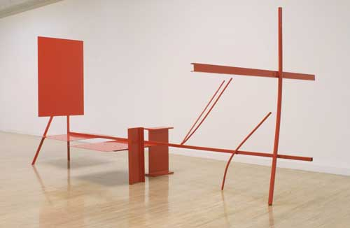 Anthony Caro (b. 1924), Early One Morning 1962. Steel and aluminium, painted red 289.6 x 619.8 x 335.3 cm. Tate. Presented by the Contemporary Art Society 1965 © the Artist, Barford Sculptures Ltd. Photography: Tate