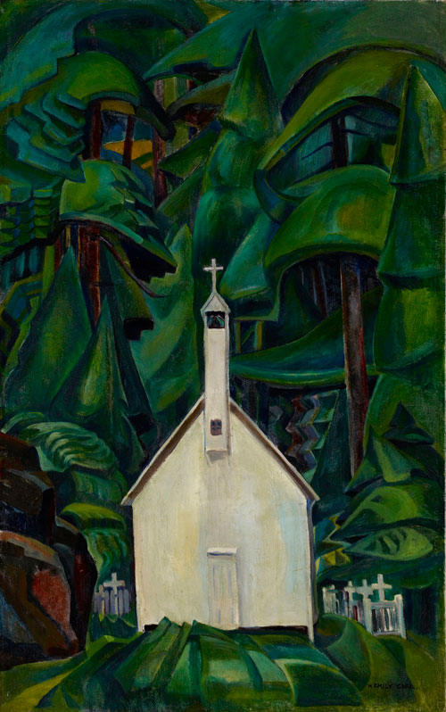 Emily Carr. Indian Church, 1929. Oil on canvas, 108.6 x 68.9 cm (42 3/4 x 27 1/8 in.) Art Gallery of Ontario, Bequest of Charles S. Band, Toronto.