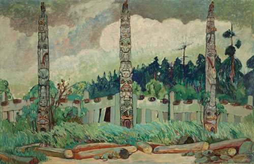 Emily Carr. Tanoo, Queen Charlotte Island, BC, 1913. Courtesy of Royal BC Museum, BC Archives, Canada.