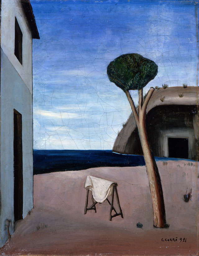 Carlo Carrà. Il pino sul mare, 1921. Oil on canvas, 68 x 52.5 cm. Private collection.