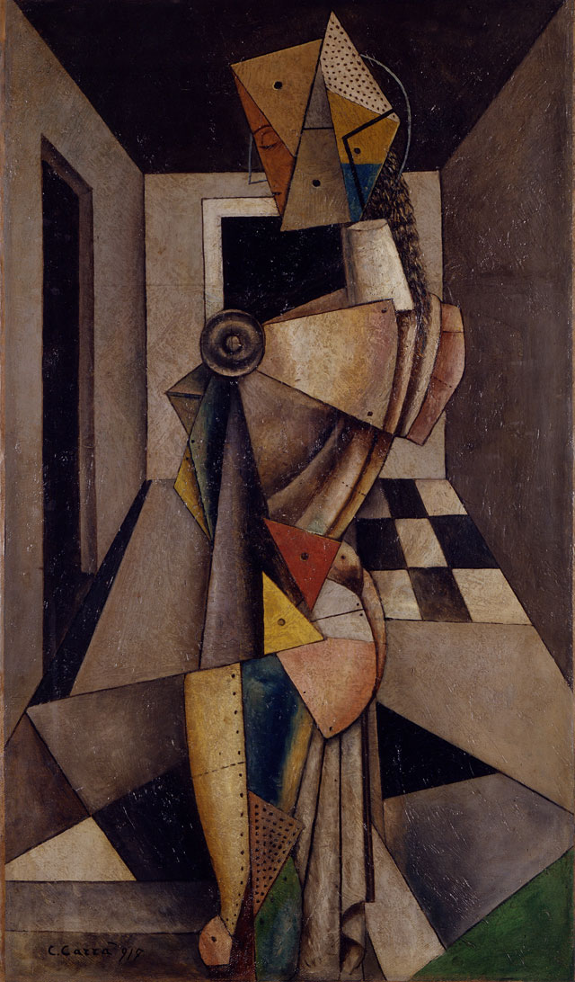 Carlo Carrà. Penelope, 1917. Oil on canvas, 94.5 x 54.5 cm. Private collection.
