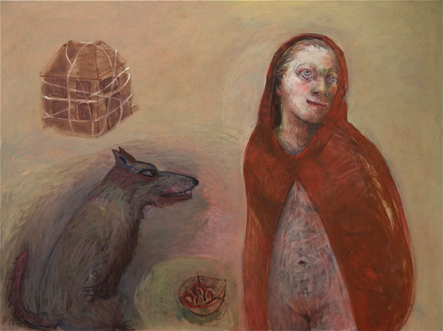 Marcelle Hanselaar. Red Riding Hood 2, 2010. Oil on canvas, 90 x 120 cm. Courtesy the artist. Photograph: Irene Rhoden.