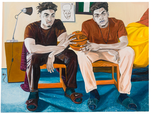 Jordan Casteel. Ashamole Brothers, 2015. Oil on canvas, 54 x 72 in.