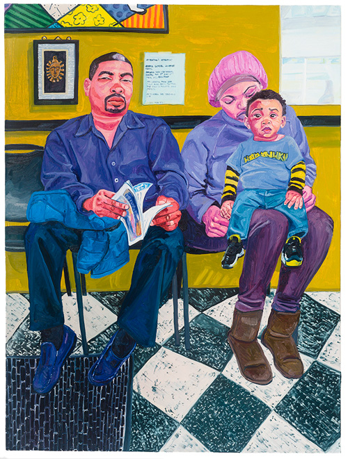 Jordan Casteel. Barbershop, 2015. Oil on canvas, 72 x 54 in.
