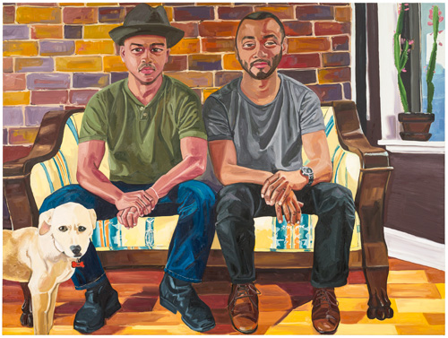 Jordan Casteel. Hamilton Cousins, 2015. Oil on canvas, 54 x 72 in.