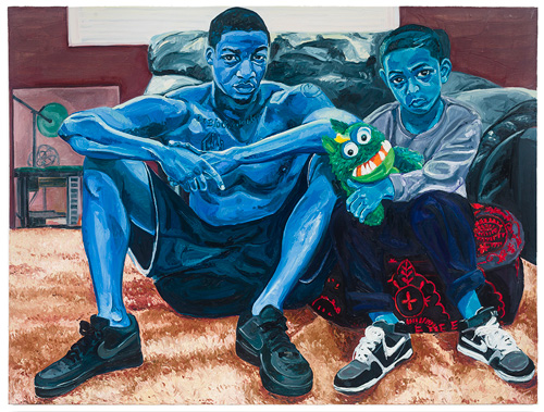 Jordan Casteel. Miles and Jojo, 2015. Oil on canvas, 54 x 72 in.