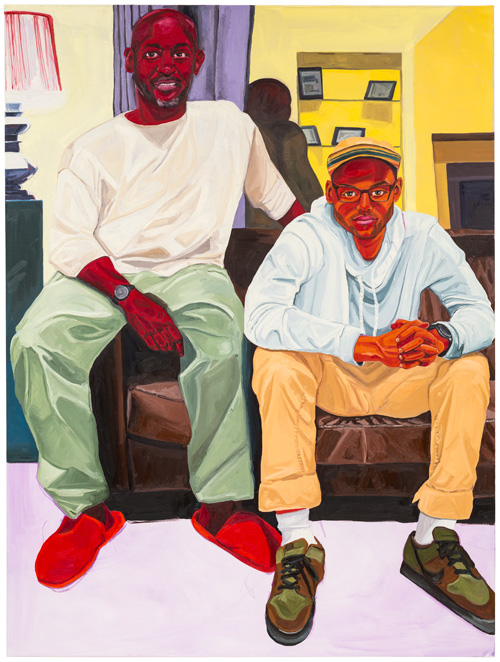 Jordan Casteel. Ron and Jordan, 2015. Oil on canvas, 72 x 54 in.