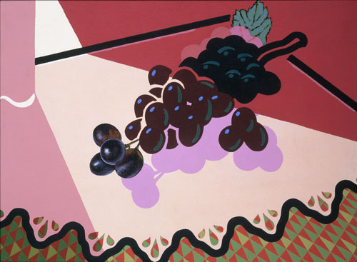 Patrick Caulfield. Selected Grapes, 1981. Acrylic on canvas, 45.7 x 60.8 cm. British Council Collection.