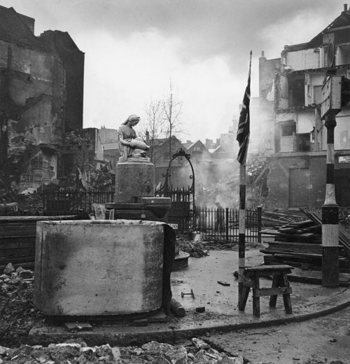Cecil Beaton. Bomb damage, Bloomsbury Square, London 1940. Part of Imperial War Museum's 'Ministry of Information Second World War Official Collection'.
