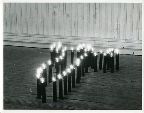 Ana Mendieta. Ñañigo Burial, 1976. Lifetime black and white photograph, 20.3 x 25.4 cm. Private collection.