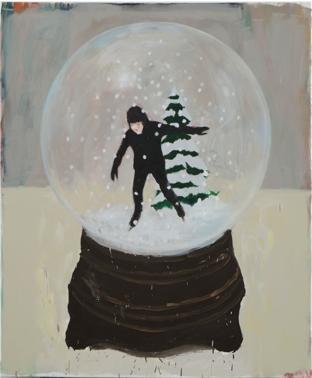 Enrique Martínez Celaya. Untitled (Snow Globe), 2017. Oil and wax on canvas, 72 x 60 in. © Enrique Martinez Celaya. Courtesy of the artist and Jack Shainman Gallery, New York.
