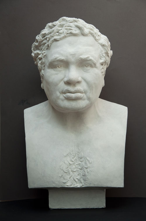 Celia Scott. <em>Vulcan</em>, 1983. Sitter: Eduardo Paolozzi. Plaster (also cast in bronze), 58 x 35 x 28 cm. © the artist.