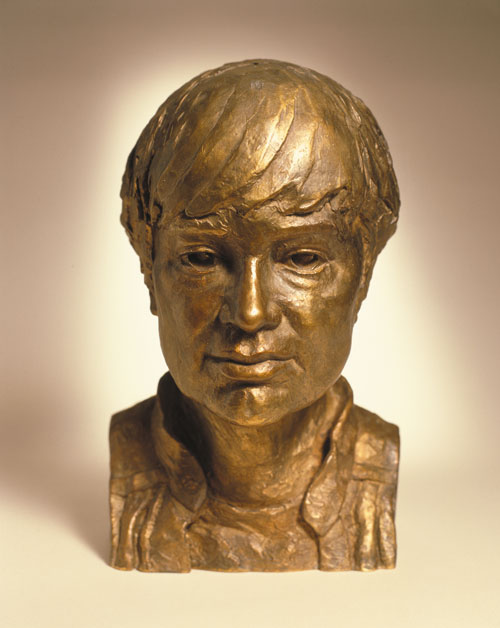 Celia Scott. <em>MJ</em>, l996. Sitter: MJ Long. Bronze, 33 x 20 x 20 cm. © the artist.