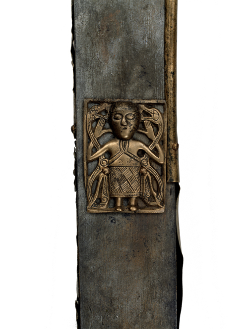 Tully Lough Cross (detail). Wood, bronze. Tully Lough, northwest Ireland, AD 700–900. © National Museum of Ireland.