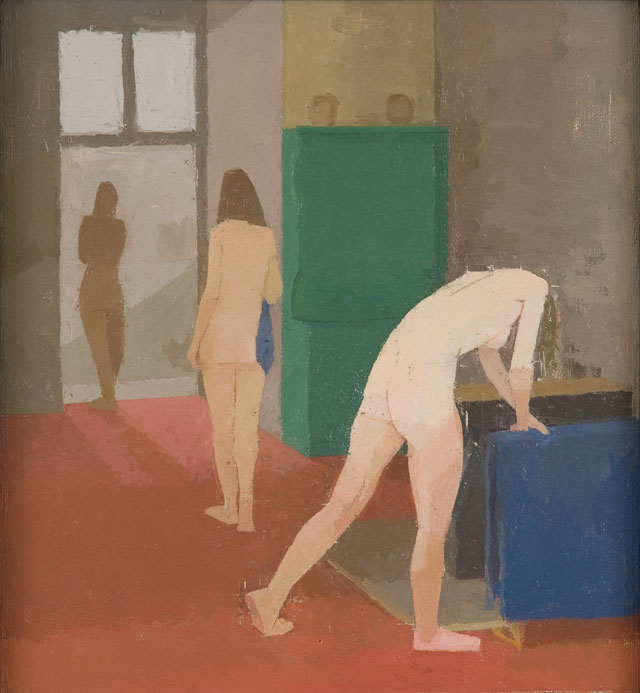 Euan Uglow. The Blue Towel, 1982-83. Oil on canvas laid on plywood. Jerwood Collection. © The Estate of the Artist.