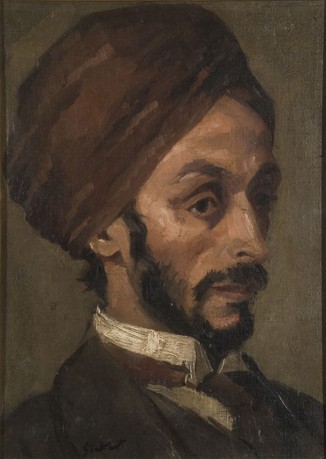 Walter Richard Sickert ARA. Portrait of an Afghan Gentleman, circa 1895. Oil on canvas laid on board. Jerwood Collection.