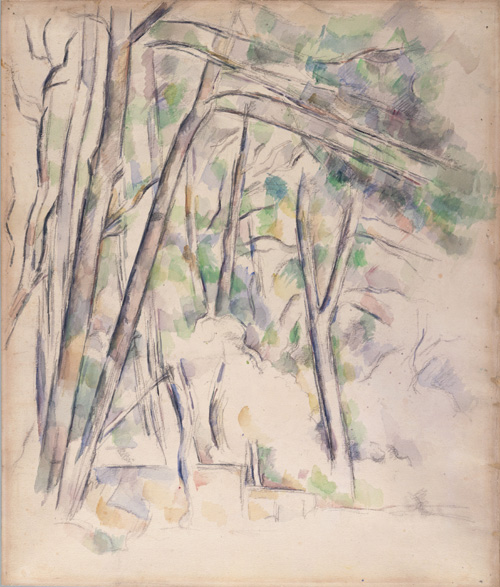 Paul Cézanne (1839–1906). Cistern in the Park of the Château Noir, 1895–1900. Watercolour and graphite on pale buff wove