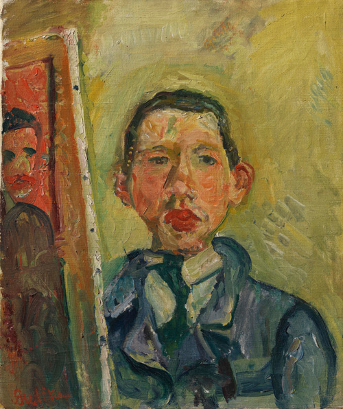 ChaÏm Soutine (1893–1943). Self Portrait, c1918. Oil on canvas, 54.6 x 45.7 cm. © The Henry and Rose Pearlman Collection. Photograph: Bruce M. White.