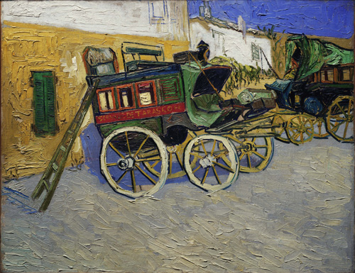 Vincent van Gogh (1853–1890). Tarascon Stage Coach, 1888. Oil on canvas, 71.4 x 92.5 cm. © The Henry and Rose Pearlman Collection. Photograph: Bruce M. White.