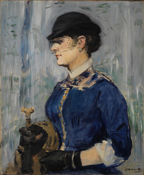 Edouard Manet (1832–1883). Young Woman in a Round Hat, c1877–79. Oil on canvas, 54.6 x 45.1 cm. © The Henry and Rose Pearlman Collection. Photograph: Bruce M. White.