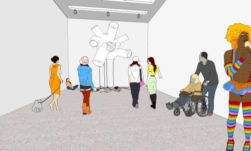Paul Chan. 3D exhibition plan_2015, 2015. Digital animation. © Paul Chan. Courtesy the artist, Badlands Unlimited, and Green Naftali, New York.