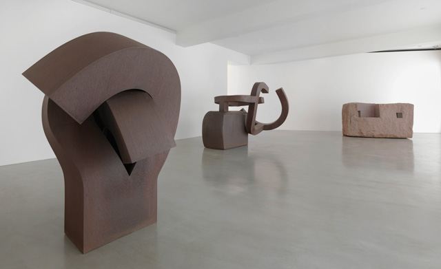 Chillida: Rhythm-Time-Silence installation view (1). Photograph: Mike Bruce, Chillida Belzunce Family Collection © Zabalaga-Leku, DACS, London, 2016.