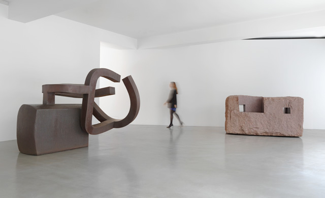 Chillida: Rhythm-Time-Silence installation view (2). Photograph: Mike Bruce, Chillida Belzunce Family Collection © Zabalaga-Leku, DACS, London, 2016.