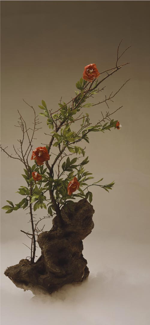 Qingsong Wang. <em>Red Peony</em>, 2003. Type C-print, 50x110cm. Courtesy of the artist.