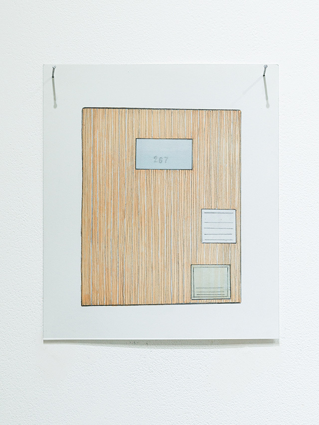 Kelly Chorpening. Correspondences: no. 10, 2014. Pencil and marker on paper, 21 x 17 cm.
