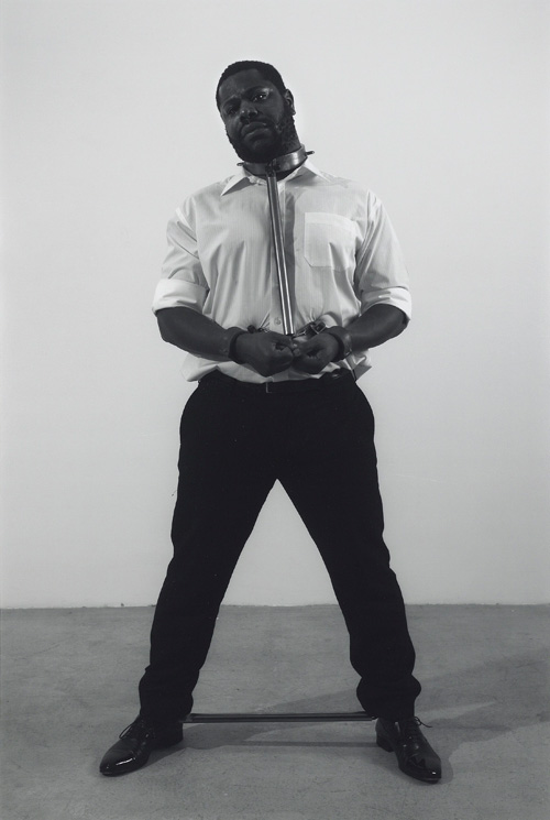 Steve McQueen. Portrait of an Escapologist, 2006. Gelatin silver print, image: 23 5/8 x 15 3/4 in (60 x 40 cm); sheet: 30 3/4 x 22 3/4 in (78 x 58 cm). Private collection.