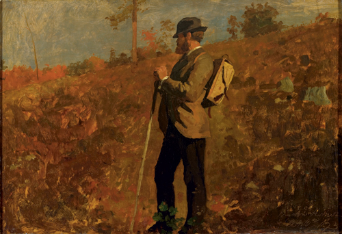 Winslow Homer (American, 1836-1910), <em>Man with a Knapsack</em>. U.S.A., 1873. Brush and oil paint on canvas. Gift of Mrs. Charles Savage Homer, Jr., 1918-20-1. Photo: Matt Flynn