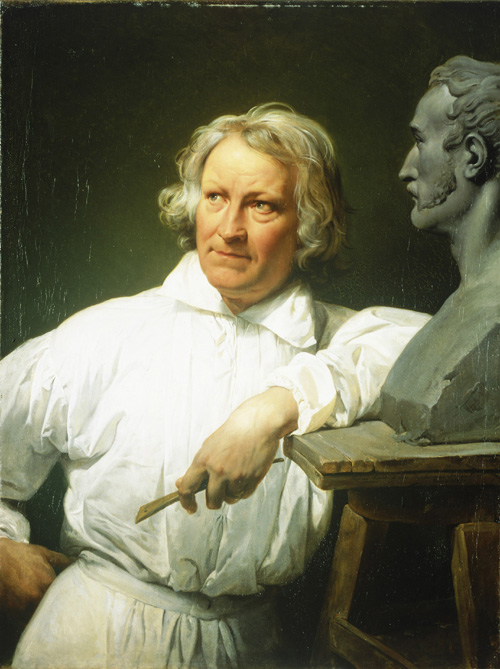Horace Vernet. <em>Bertel Thorvaldsen</em>, 1833. Oil on canvas, 99.8 x 75.5 cm. Thorvaldsens Museum, Copenhagen, B 95 Photo: &copy; Thorvaldsens Museum, Copenhagen/Ole Woldbye