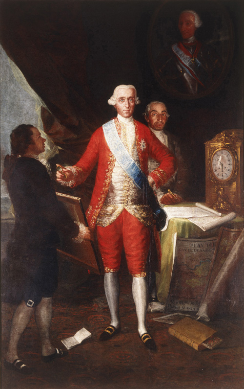Franciso de Goya y Lucientes. <em>Don Jose Monino y Redondo I, Conde de Floridablanca</em>, 1783. Oil on canvas, 260 x 166 cm. Coleccion Banco de Espana, Madrid
