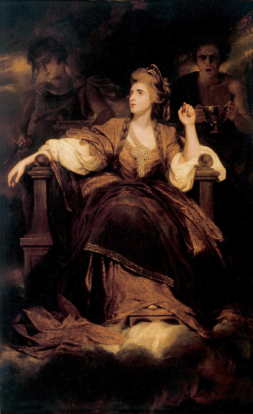 Sir Joshua Reynolds. <em>Mrs Siddons as the Tragic Muse</em>, 1789. Oil on canvas, 239.7 x 147.6 cm. By permission of the Trustees of Dulwich Picture Gallery, London, DPG 318 Photo: Dulwich Picture Gallery