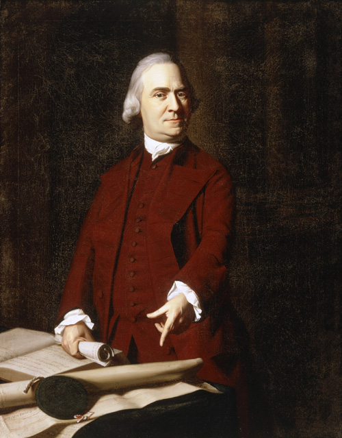 Singleton Copley. <em>Samuel Adams</em>. Oil on canvas 125.8 x 100 cm. Museum of Fine Arts, Boston. Deposited by the City of Boston, 30.76C Photo: © 2007 Museum of Fine Arts, Boston