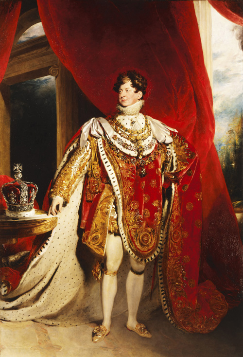 Sir Thomas Lawrence. <em>George IV</em>, 1822. Oil on canvas, 289.6 x 200.7 cm. Lent by Her Majesty The Queen, RCIN 405918 Photo: The Royal Collection &copy; 2006 Her Majesty Queen Elizabeth II