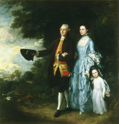 Thomas Gainsborough.<em> George Byam with His Wife Louisa and Their Daughter Selina</em>, c.1762, and reworked by 1766. Oil on canvas, 249 x 238.8 cm. The Andrew Brownsword Arts Foundation. On long-term loan to the Holburne Museum of Art, Bath Photo: © The Andrew Brownsword Arts Foundation, Bath