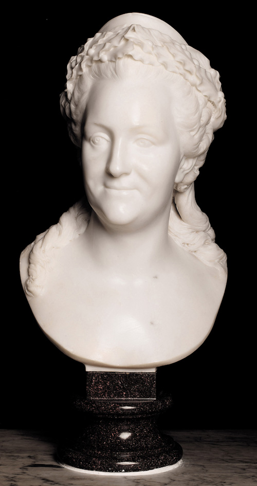 Fedot Ivanovich Shubin. <em>Catherine II, Empress of Russia</em>, 1771. Marble, 80.5 x 33.5 x 30 cm. Victoria and Albert Museum, London, A. 32-1964 Photo: V&A Images/Victoria and Albert Museum