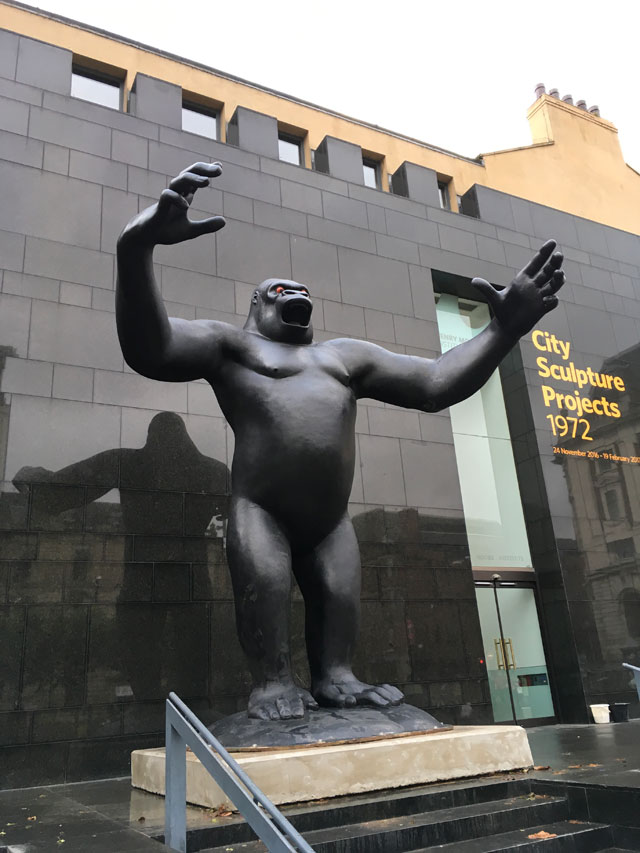 Nicholas Monro's King Kong outside the Henry Moore Institute, Leeds, 2016. Photograph: Derek Horton.