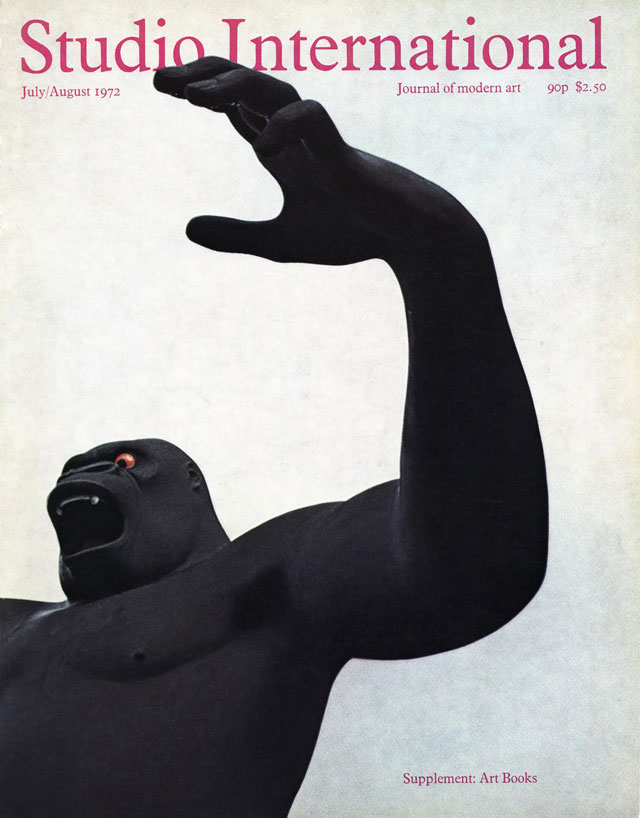 Nicholas Monro's King Kong on the cover of Studio International, July/August 1972.