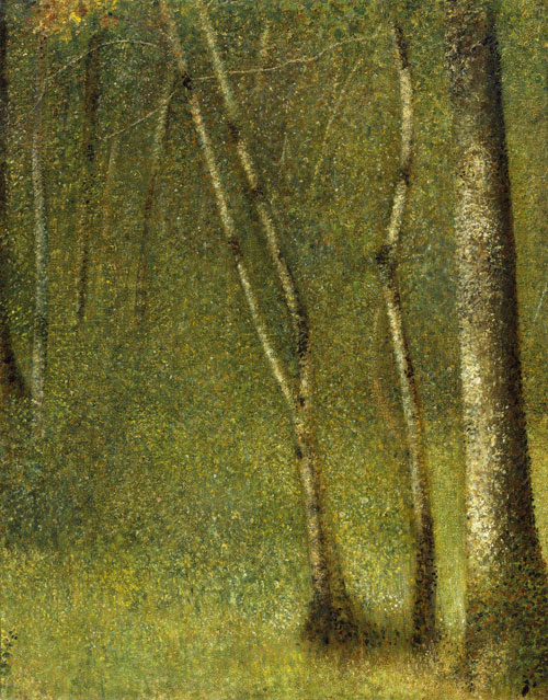 Georges Seurat. The Forest at Pontaubert, 1881. Metropolitan Museum of Art, New York.
