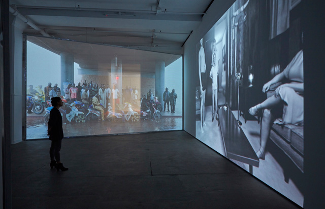 David Claerbout. Installation view of LIGHT/WORK at Sean Kelly, New York, 19 March – 30 April 2016. Photograph: Jason Wyche. Courtesy of Sean Kelly, New York.