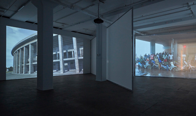 David Claerbout. Installation view (2) of LIGHT/WORK at Sean Kelly, New York, 19 March – 30 April 2016. Photograph: Jason Wyche. Courtesy of Sean Kelly, New York.