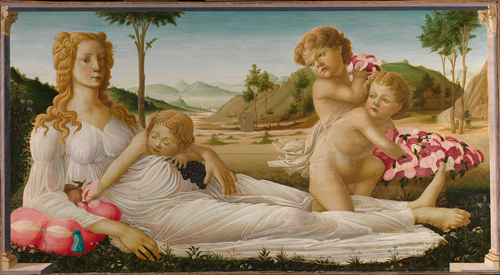 Follower of Sandro Botticelli.        <em>An Allegory</em>, <br>         probably about 1490–1550. © National Gallery, London.