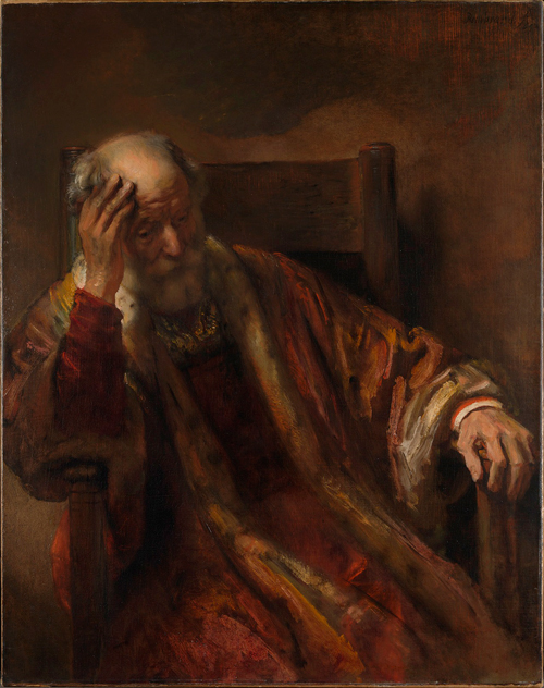 Follower of Rembrandt.        <em>An Old Man in an Armchair</em>,  17th century. © National Gallery, London.