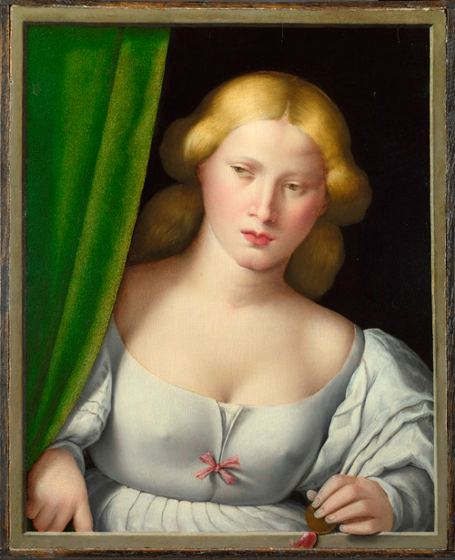 Italian, North.        <em>Woman at a Window</em>, probably 1510–30. © National Gallery, London.