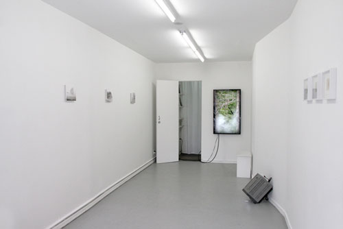 Seth Cluett: The Persistence of Traces, 2014. Installation view, Audio Visual Arts, New York.