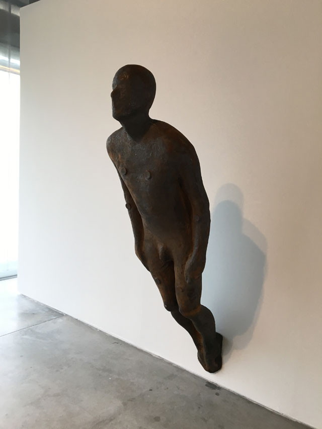 Antony Gormley. Lever, 2008.  Cast iron, 213 x 55 x 33 cm. Private collection, Moscow. Courtesy Garage Museum of Contemporary Art.