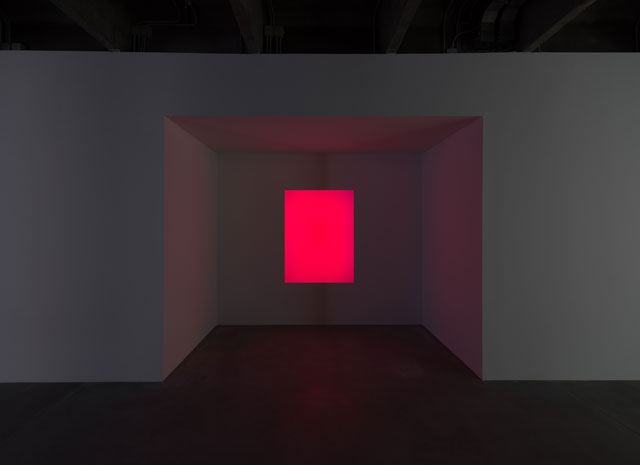James Turrell. As Imagined, 2006. Wood, glass volume, and computerized neon setting, 158 x 118 cm. Private collection, Moscow. Courtesy Garage Museum of Contemporary Art.