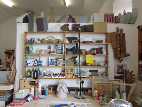 Doug Cocker's studio, Lundie, Scotland, May 2014. Photograph: Janet McKenzie.